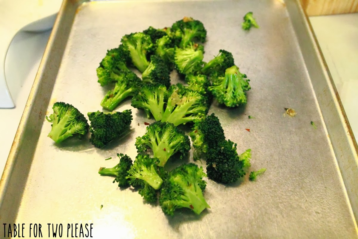 Broccoli on pan | Table for Two, please?