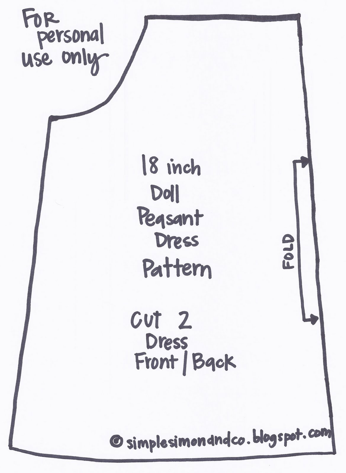 It is a photo of Dashing Free Printable Pillowcase Dress Pattern