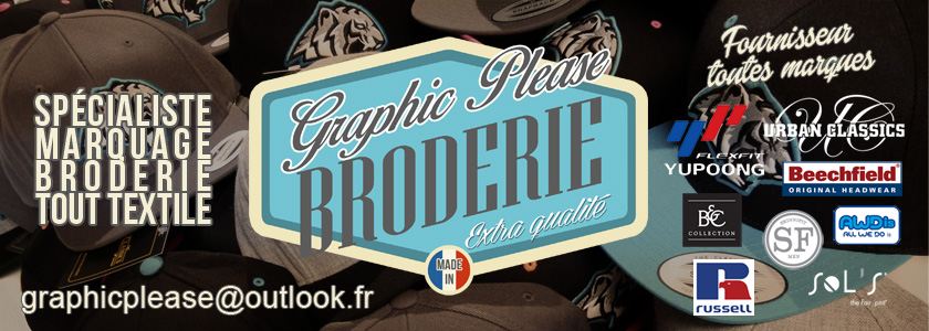 Broderie Graphic Please, marquage sur textile