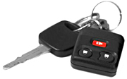 Use your car key alarm to deter burglars, if you think you are having a home intrusion.