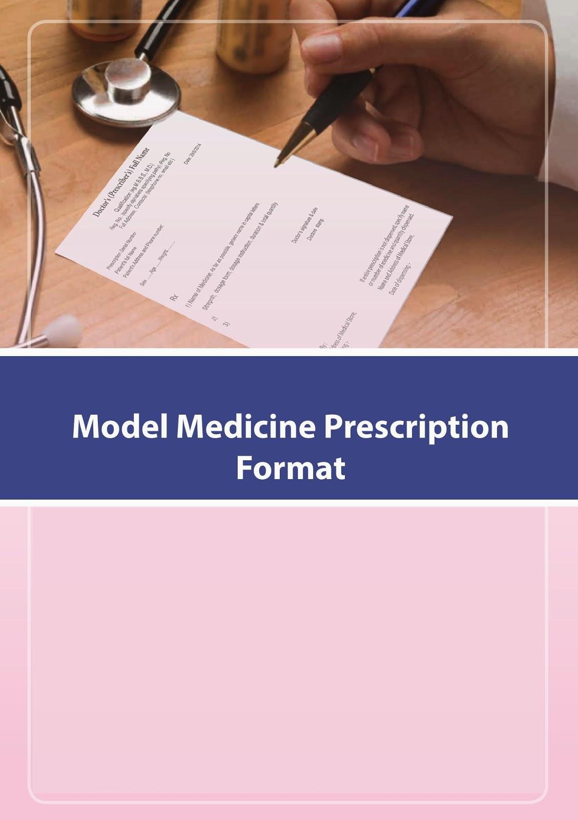 Model Medicine Prescription Format
