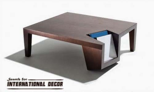 unique coffee table, contemporary storage coffee table