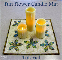 AccuQuilt Fun Flower Candle Mat at Freemotion by the River