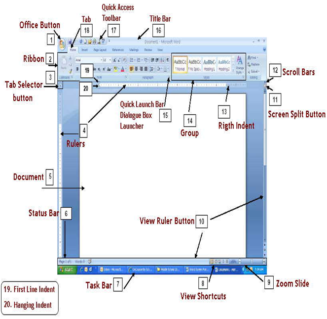 EZCopy Lyrics: PARTS OF THE MICROSOFT WORD 2007 SCREEN AND THEIR ...