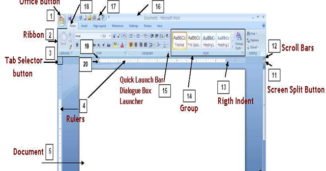 A diagram of microsoft word electrical work wiring diagram ezcopy lyrics parts of the microsoft word 2007 screen and their rh ezcopylyrics blogspot com microsoft word diagram templates block diagram microsoft word ccuart Image collections