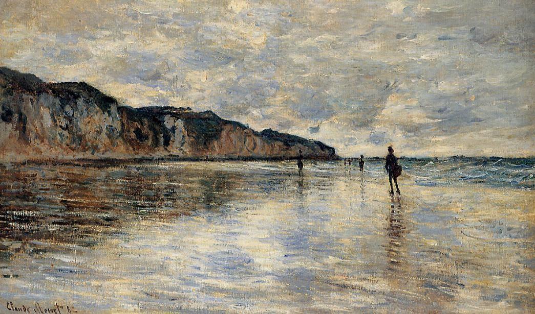 Marée basse devant Pourville (1882)