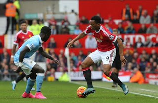 Anthony Martial vs Man City