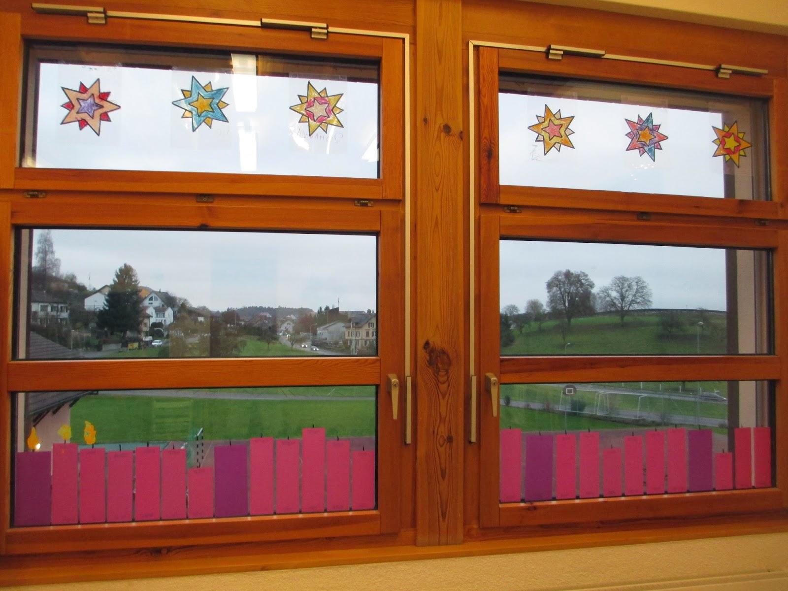Fenstersterne ganz einfach Adventsritual Kindergaretn