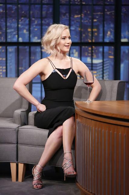 Actress, @ Jennifer Lawrence - 'Late Night With Seth Meyers'