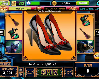 Elvira's shoes at Elvira the Witch is Back at Hit It Rich