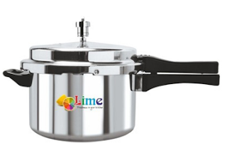 Pepperfry : Buy Lime Aluminium 5 L Pressure Cooker And get at Flat 41% off and Extra 200 off, worth Rs. 1049 at Rs. 419 only