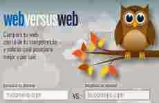 Webversusweb: herramienta para SEO que compara el posicionamiento de dos sitios web