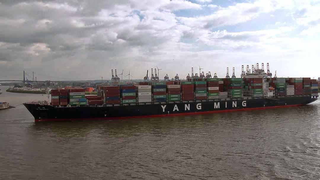 container ship Yang Ming Uniformity in Hamburg