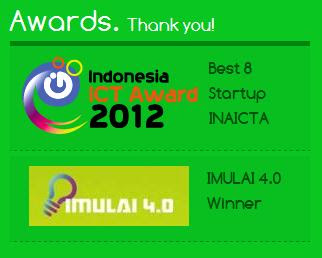 Indonesia ICT Award 2012 Best 8 StartUp INAICTA dan IMULAI 4.0 Winner