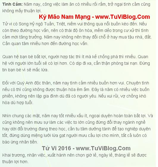 Ky Mao Nam Mang 1999 Nam 2016