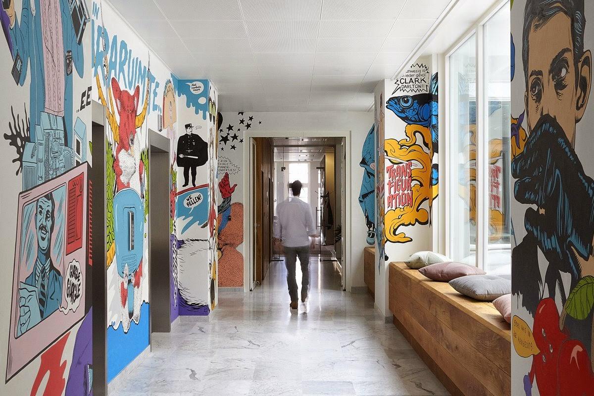Decoracion de pasillos con papel pintado