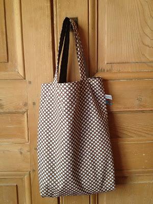 sac shopping réversible Tissu Linna Morata