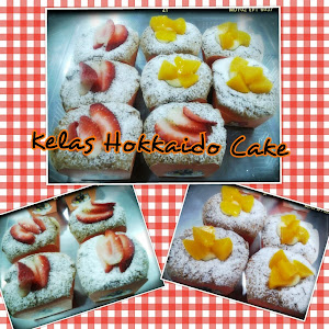 Kelas DIY Hokkaido cake with creamy kastard peach & Strawberry cream cheese - RM200