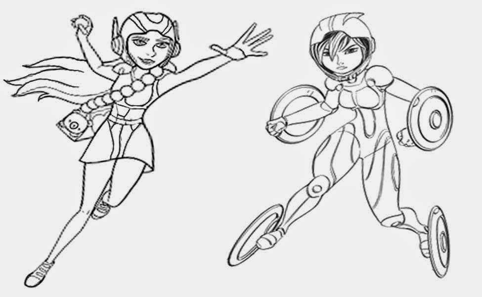 Straightforward Design Printable Big Hero 6 Cartoon Pictures Disney Coloring Pages For Kids Artwork