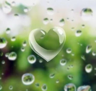 Love picture: heart with drops around