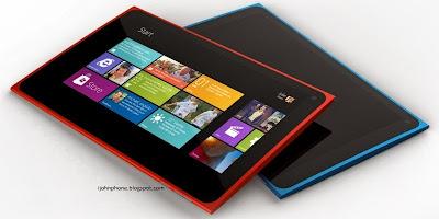 Nokia Lumia 2520 roja y azul