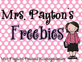 Mrs Paytons Precious Kindergarteners Freebies