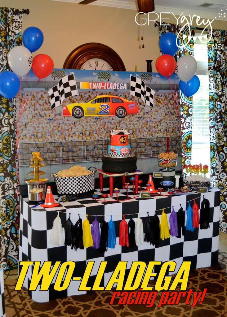 Greygrey designs my parties lachlans two lladega nascar inspired my parties lachlans two lladega nascar inspired race car party filmwisefo Choice Image