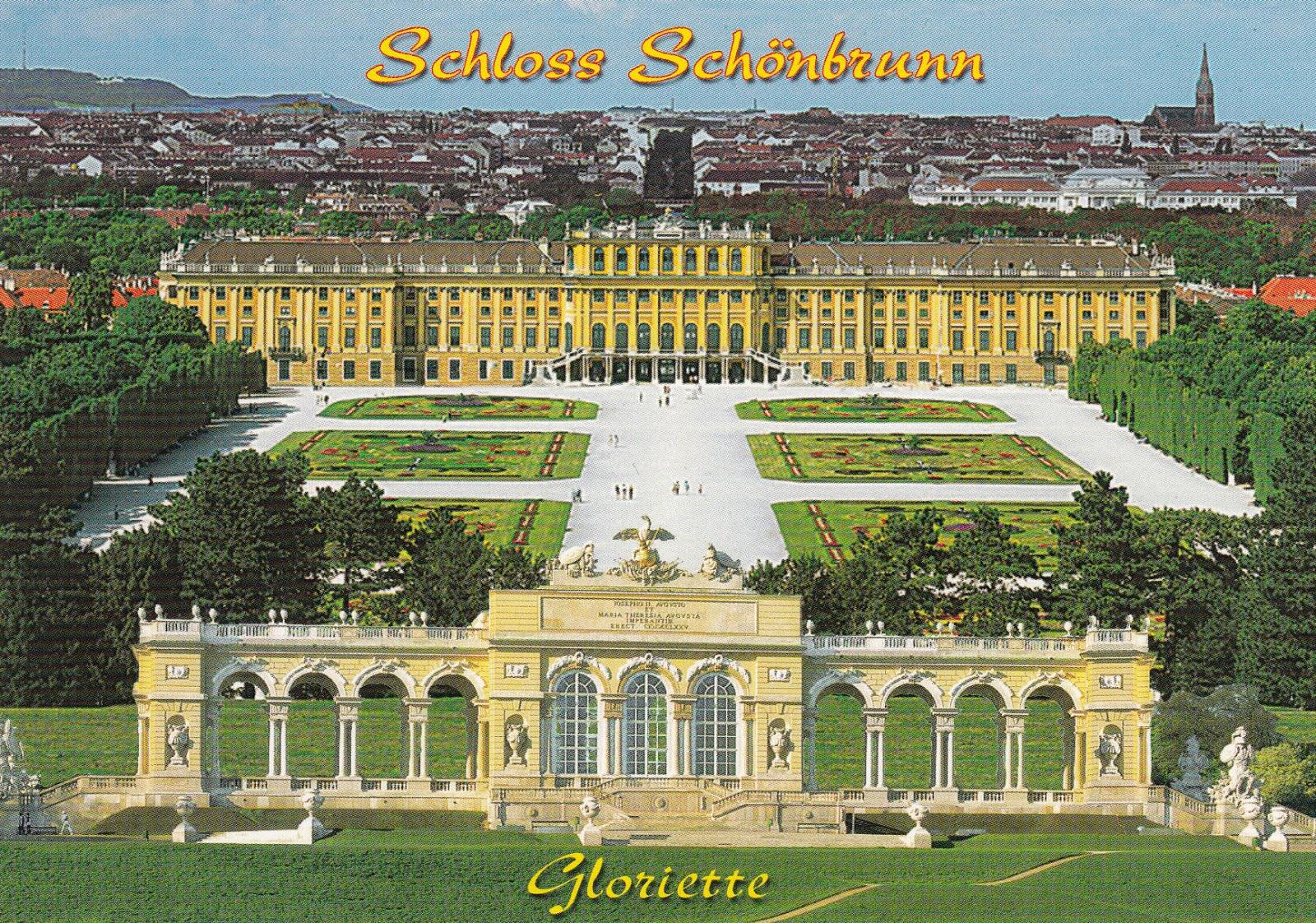 My Postcard And Stamp Week Austria Schönbrunn Palace And Gardens