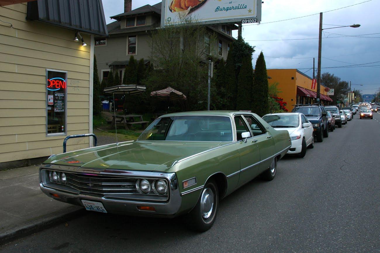 old parked cars   1971 chrysler newport custom