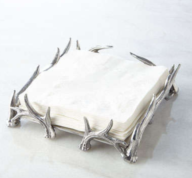 arthur court antler napkin holder