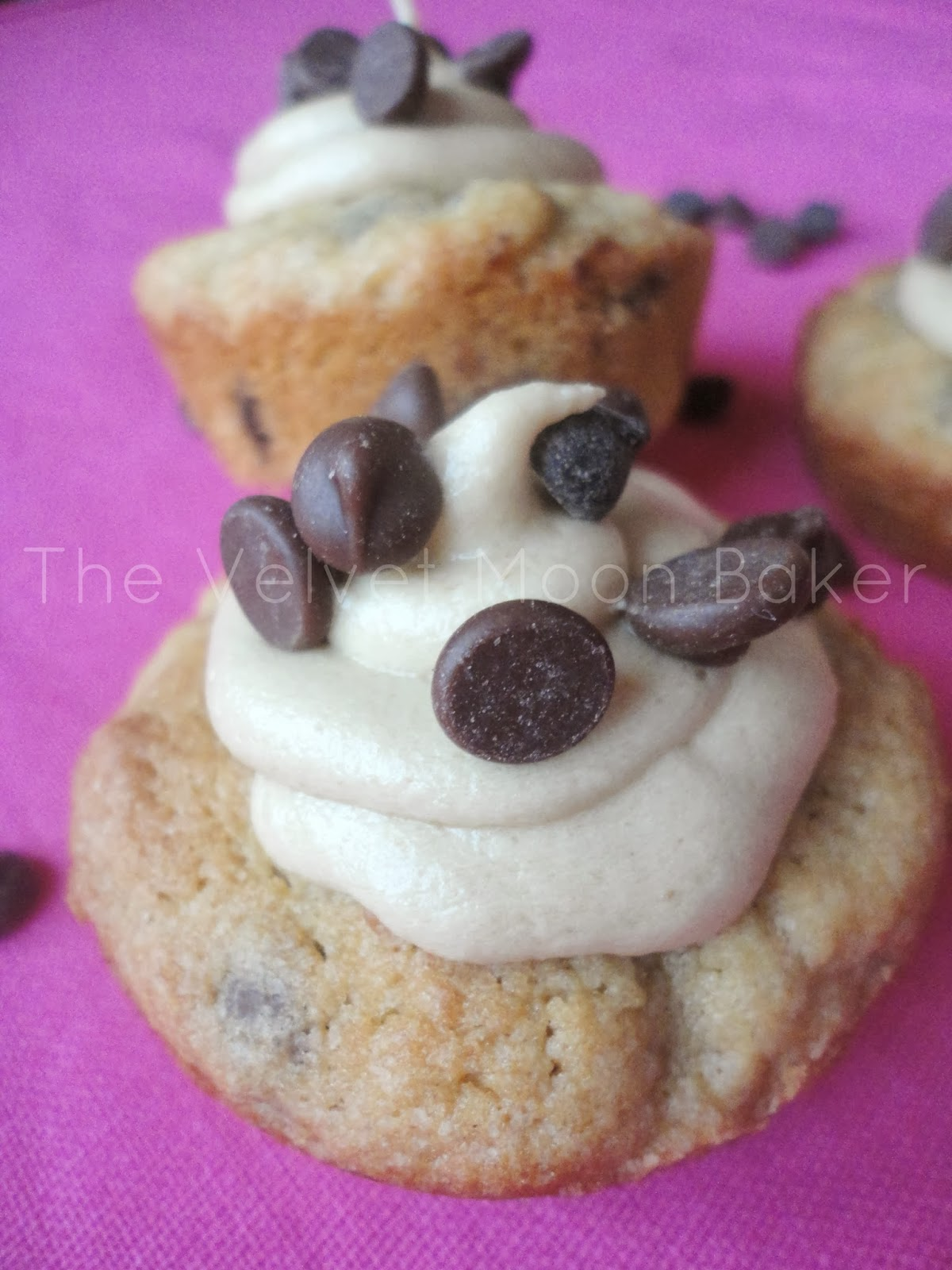 Chocolate Chip Cookie Bites with Cookie Dough Frosting