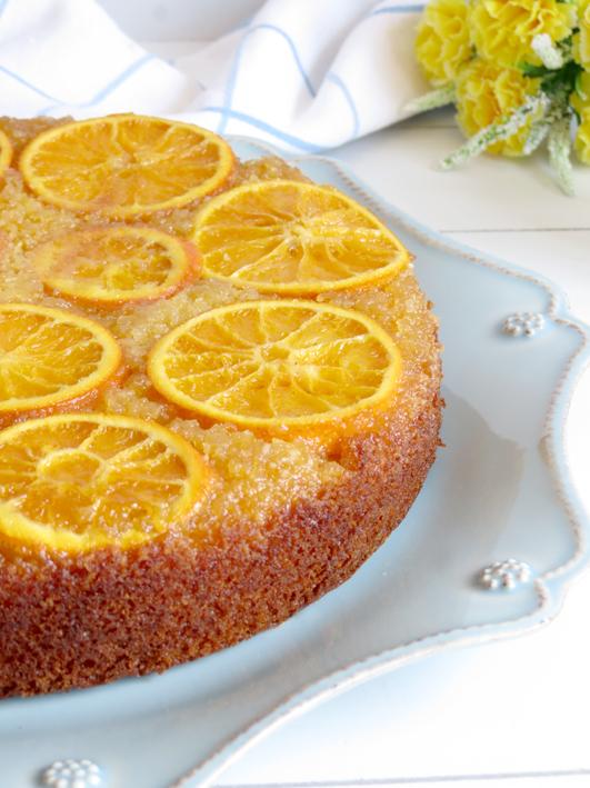 bolo invertido laranja