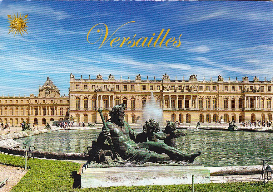 my postcard collection france   palace and park of versailles