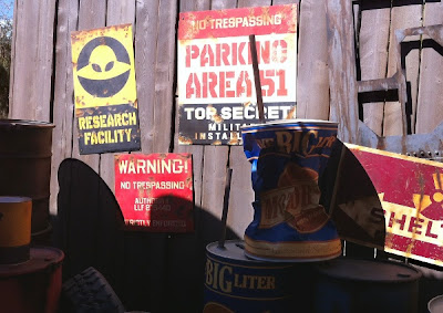 Parking Area 51 Mater's Junkyard Jamboree