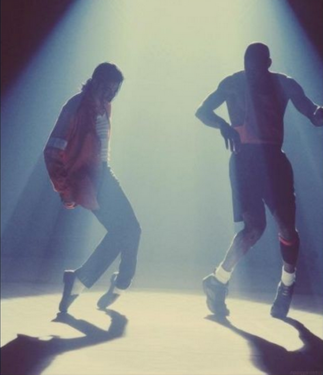 michael-jacson-and-jordan-dance-foto-histórica
