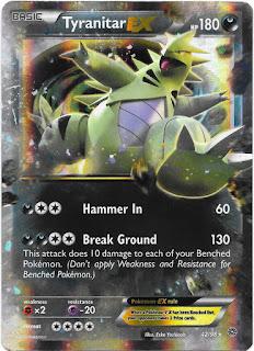 Tyranitar EX Ancient Origins Pokemon Card