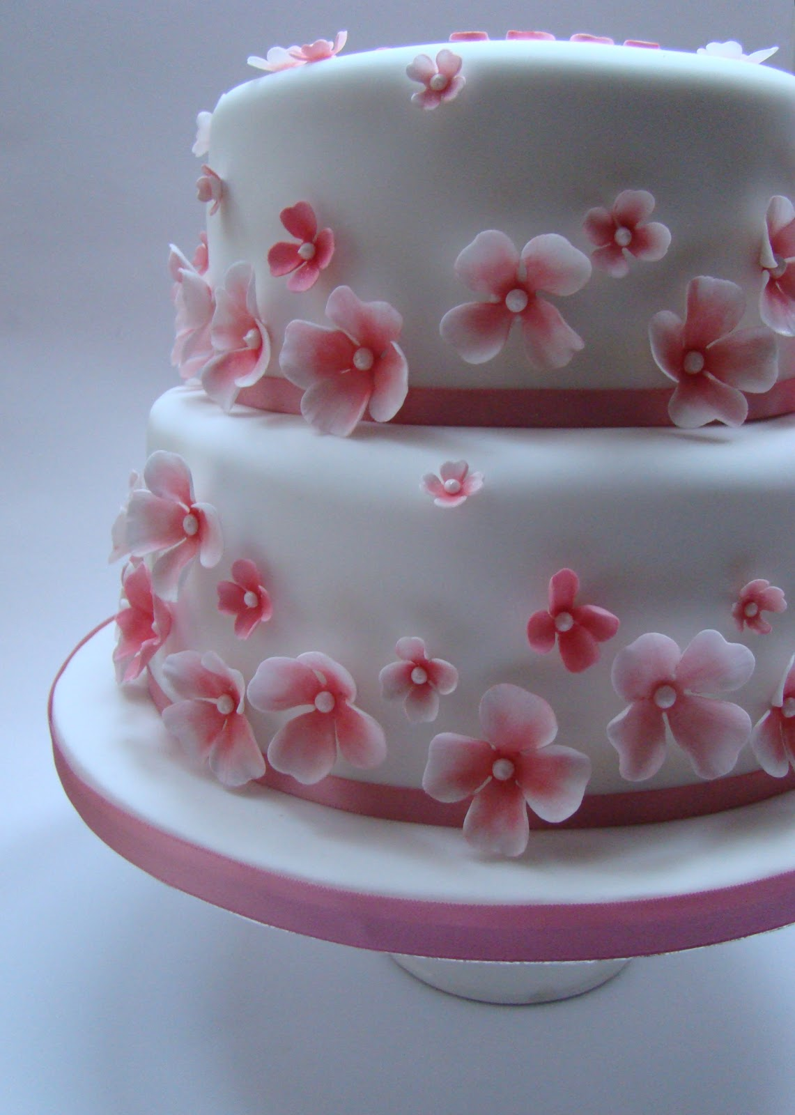 Pink Blossom 50th Birthday Cake Boutique Cake Shop