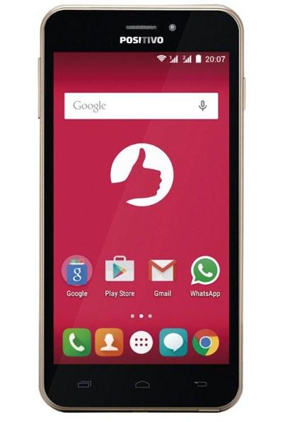 O Smartphone Positivo Quattro X435 tem tela de 5 polegadas, processador quad-core 64-bit de 1.3GHz, 1GB de memória RAM