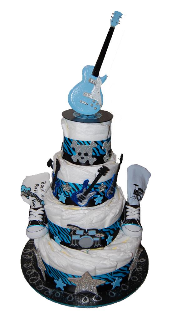 You sewafty diaper cakes boy zebra rock n roll themed freerunsca Images