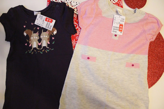 H&M baby clothing sale two jumper dresses