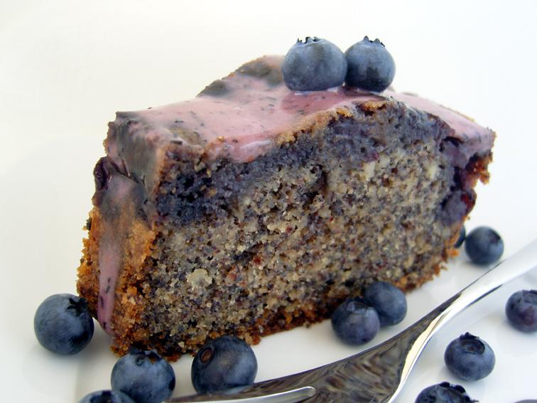 Ninas kleiner Food-Blog: Heidelbeer-Mohn-Nuss-Kuchen