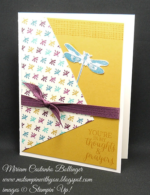 Miriam Castanho-Bollinger, #mstampinwithyou, stampin up, demonstrator, ppa, all occasions card, get well, sympathy card, bohemian dsp, rose wonder stamp set, awesomely artistic, su
