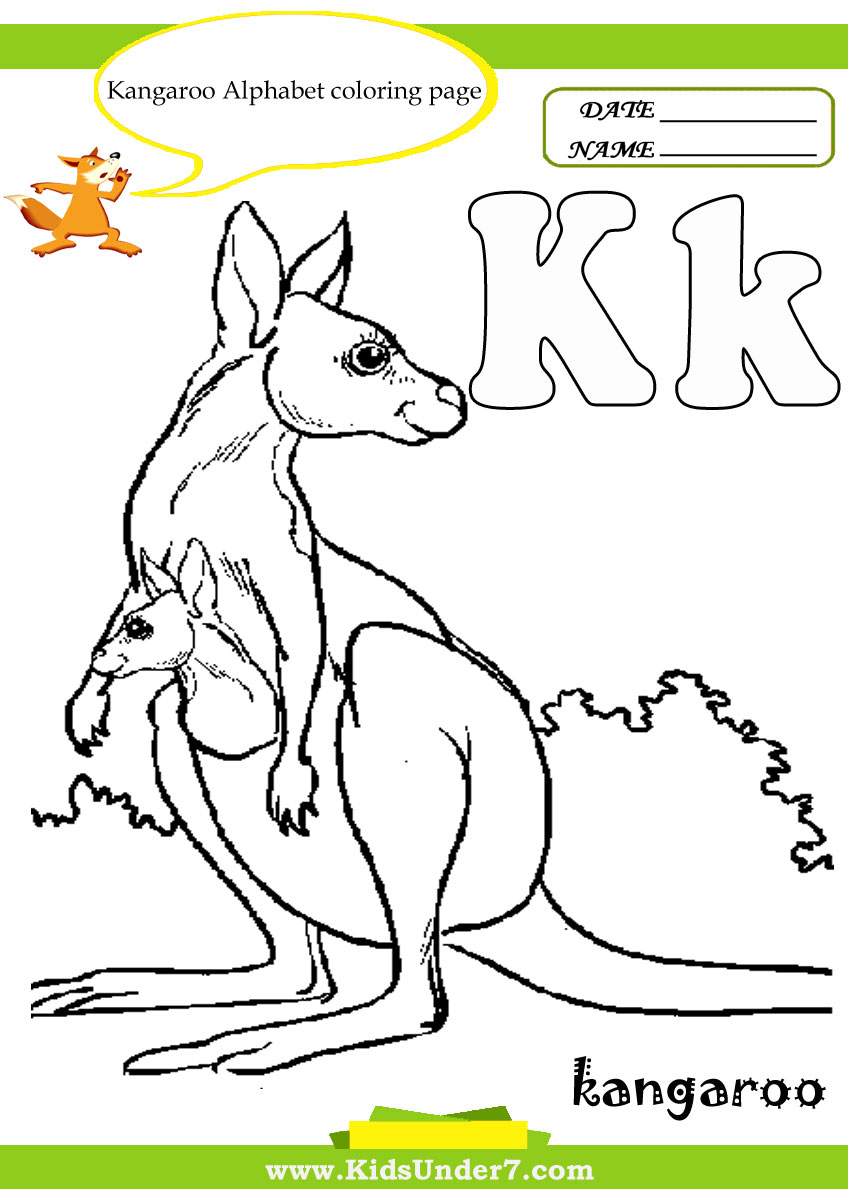 Kids Under 7 Letter K Worksheets and Coloring Pages – Letter K Worksheets for Kindergarten