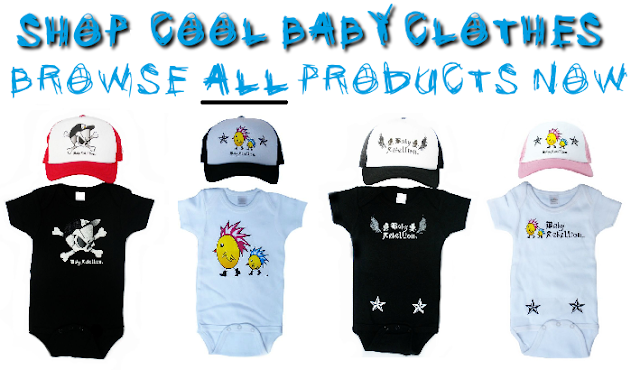 Shop Punk Baby Clothes by Baby Rebellion