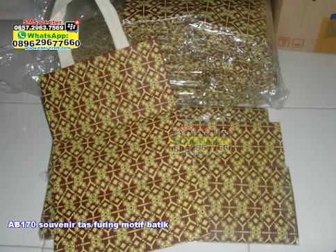 souvenir tas furing motif batik unik