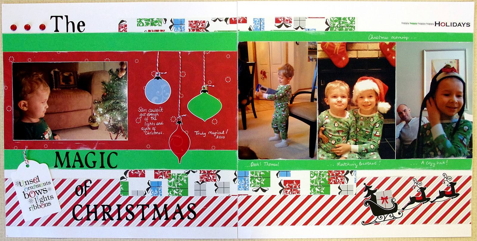 Scrapbook ideas creative memories - As You Can See I Got A Lot Of Mileage From Just One Kit The Cheerful Christmas Additions Pack
