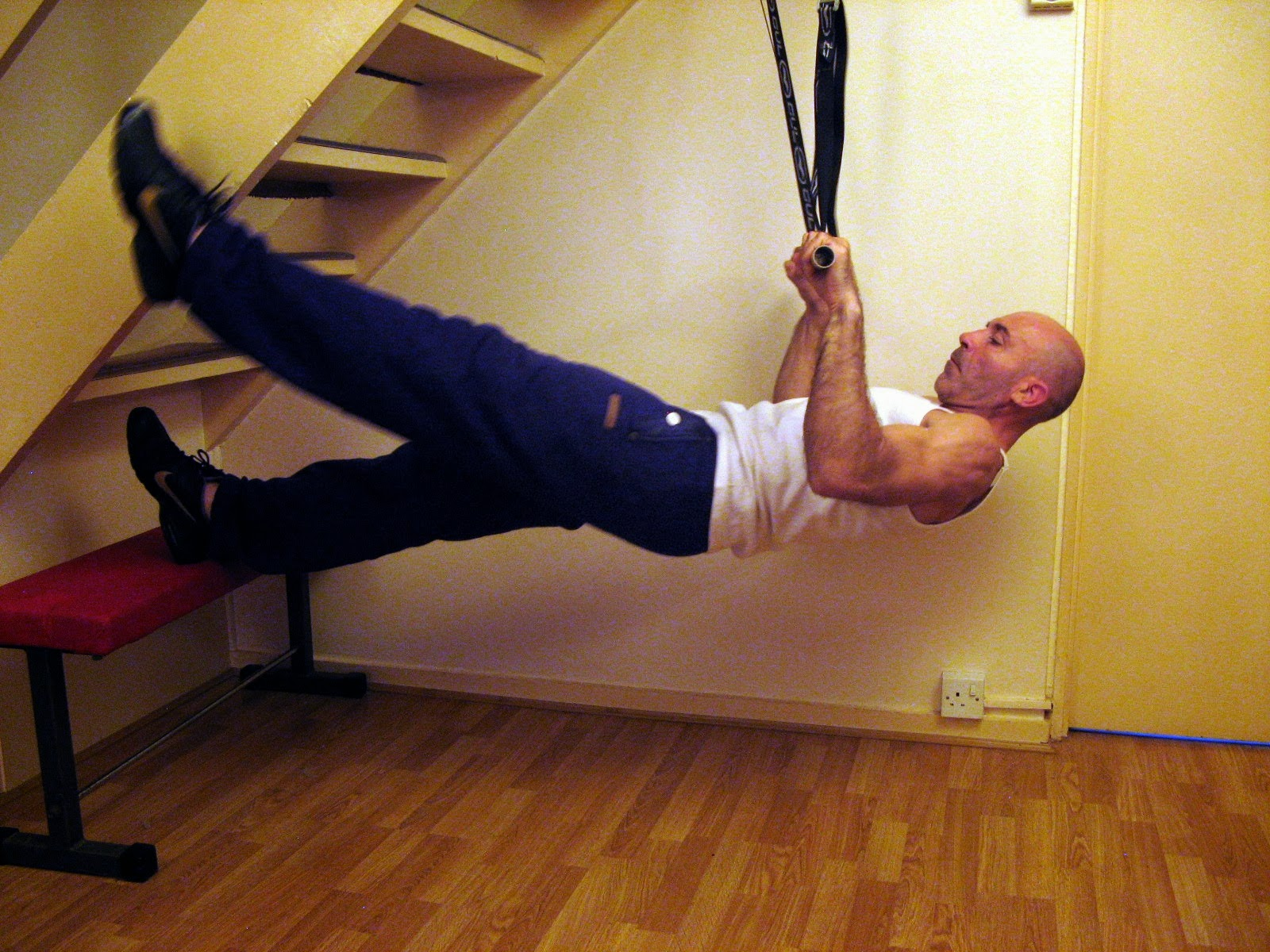 Dip station and gymnastic rings body fitness
