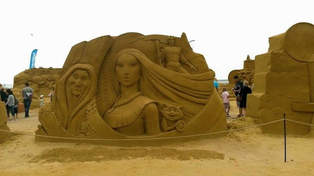 Pocahontas Disney Sand Sculpture