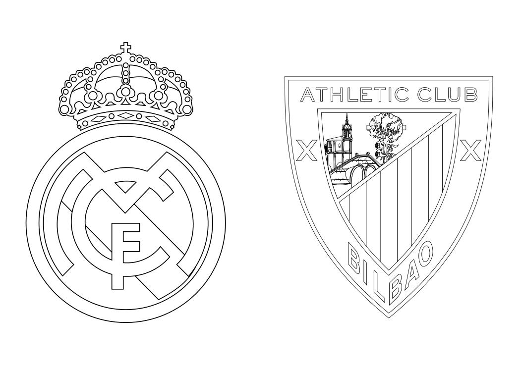 Dibujos para Colorear, Pintar , imprimir.....: REAL MADRID ...
