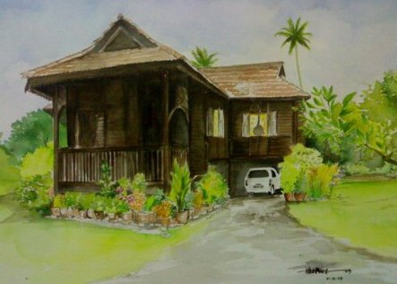 rumah desa sundanese traditional home